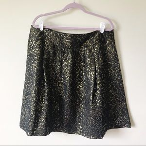 Lane Bryant || Metallic Skater Skirt Size 16